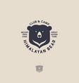 himalayan bear logo mountain travel emblem vector image vector image