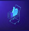 isometric digital and social media marketing vector image vector image