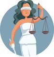 lady justice logo mascot vector image