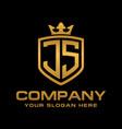letter js initial logo luxury logo design vector image