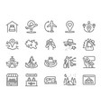 local tourism line icon set vector image