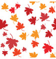 maple leaf seamless vector image vector image