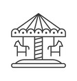 merry go round icon amusement park related line vector image vector image