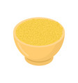 millet in wooden bowl isolated groats in wood vector image