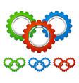 multicolored gear compositions vector image vector image
