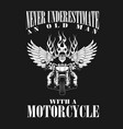 oldman motorcycle vector image