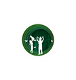 paper cut style of family having fun playing vector image vector image