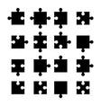puzzle icon set vector image vector image