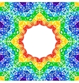 Rainbow kaleidoscope colorful background vector image