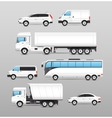Realistic Transport Icons Set vector image vector image