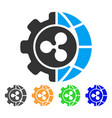 ripple world industry icon vector image vector image