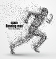 Running Man particle divergent composition vector image vector image
