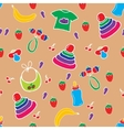 Seamless colorful baby pattern vector image vector image