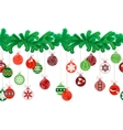 Seamless festive Christmas garland with fir and vector image vector image