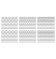 seamless wavy line and zigzag patterns set vector image vector image