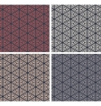 set colorful geometric pattern background vector image vector image