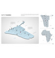 set namibia country isometric 3d map namibia vector image vector image