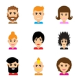 Set of flat web icons on white background haircut vector image vector image