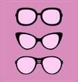 set sunglasses party fun vector image vector image