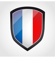 Shield with flag inside - France vector image vector image