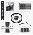 Solar Panels Alternative Eco Energy Set of vector image