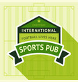 sport pub badge vector image