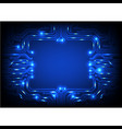 square circuit background vector image