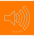 Stock Linear icon sound vector image vector image