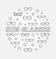 sun glasses round made with vector image vector image