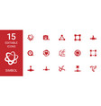 symbol icons vector image vector image
