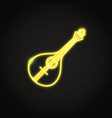 traditional portuguese guitar fado icon in glowing vector image