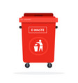 trash can on wheels for sorting electronics vector image vector image