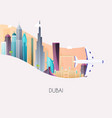 travel to dubai traveling on airplane planning a vector image vector image
