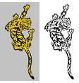 Tribal predatory Tiger tatoo vector image