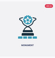 two color monument icon from success concept vector image