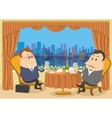 Two gentleman businessman in Restaurant vector image vector image