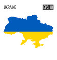 ukraine map border with flag eps10 vector image