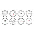 watch face clock circle dial with numbers arrows vector image vector image