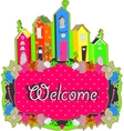 welcome sign design vector image