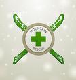 Logotype mountain rescue vector image