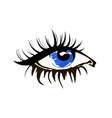 Eye sketch in fashion style on white vector image