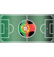 Portugal football field vector image