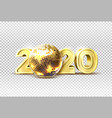 2020 new year party golden disco ball vector image vector image