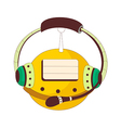 A view of head phone vector image vector image