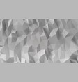 abstract gray 3d low polygonal background vector image vector image
