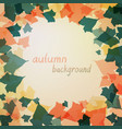 background with green and orange leaves vector image vector image