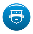 badge crown icon blue vector image vector image