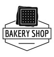 bakery product logo simple black style vector image vector image