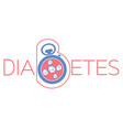 banner of diabetes mellitus vector image