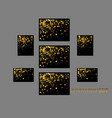banners and cards gold sparkles on black vector image vector image